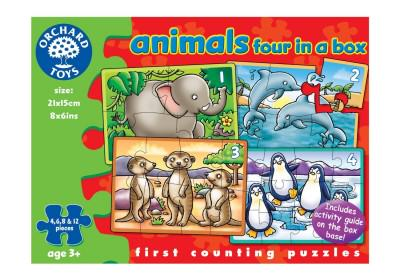 Orchard Toys Animals Four in a Box