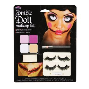 Adults Zombie Doll Halloween Makeup Face Painting Kit