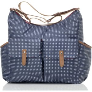 Babymel Frankie Pixel Dot Changing Bag - Navy