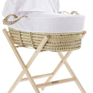 Cuggl Waffle Moses Basket with Stand