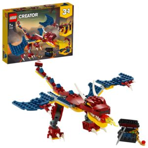 LEGO Creator 3-in-1 Fire Dragon Construction Set 31102