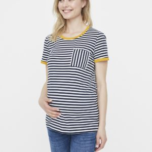 Multicoloured Stripe Maternity T-Shirt - 10